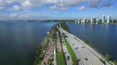 Aerial video Key Biscayne FL. - stock footage