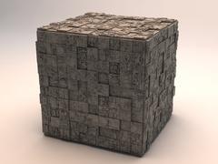 3d model of Sci-Fi Cube 2