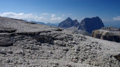 Sella group in Dolomites Stock Footage
