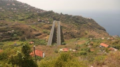Madeira: Street with bridge and tunnel Stock Footage