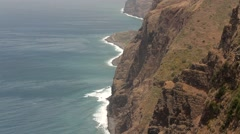 panoramic view with bluff on Madeira, Portugal - stock footage