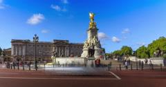 Queen Victoria Memorial Stock Footage
