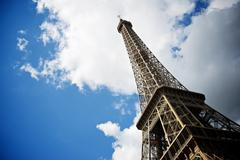 Eiffel Tower view in Paris, France. Stock Photos