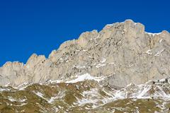 Foratata Peak in Tena Valley, Aragon, Huesca, Spain. - stock photo