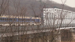 Train to nowhere going ftom south to north Korea Stock Footage