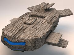 3d model of The Space Mothership