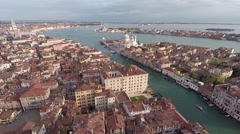 Aerial view of Venice Stock Footage