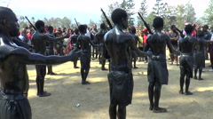 Militant dance at the Mount Hagen Cultural Show  - stock footage
