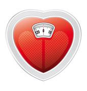Heart scale Stock Illustration