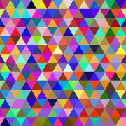 Abstract multicolored geometric seamless pattern - stock illustration