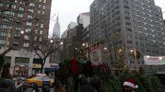 Empire State Building at Christmas in New York City - stock footage