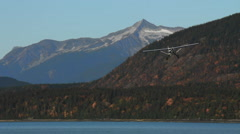 Alaska Bush Plane Coming In Low and Hot Stock Footage