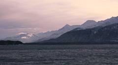 Alaska Chilkat Inlet Winter Arctic Peaks Stock Footage
