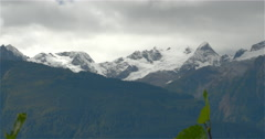 Alaska Chilkat Mountains and Glaciers Pan 4K Stock Footage