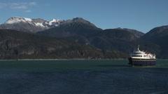 Alaska Ferry Public Transportation Beauty - stock footage