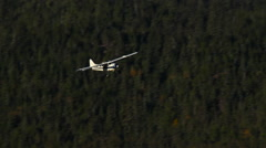 Alaska Wilderness Bush Plane Flying Stock Footage