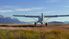 Alaskan Bush Plane Taking Off Rear View Stock Footage