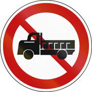 Stock Illustration of No Lorries prohibitory sign in South Korea