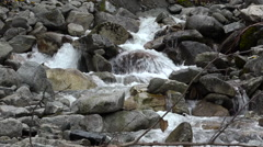 Fast Moving Creek in Slow Motion Granite Boulders Medium Stock Footage