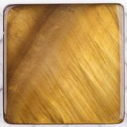 unusual natural nacreous plate ocher brown - stock photo