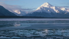 Stock Video Footage of  Solitude Icy River Alaska