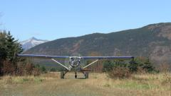 Propeller Taxi Towards Camera Stock Footage