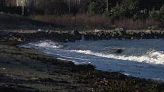 Real Time Ocean Waves Crashing Stock Footage