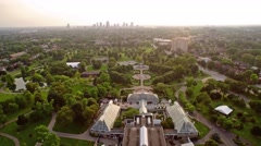 FRANKLIN PARK_COLUMBUS_AERIAL_2 Stock Footage