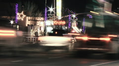 Urban Holiday Acid Traffic Fast Motion Slow Shutter Stock Footage