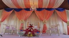 Indian Wedding | Outdoor Mandap | Dual Slider Stock Footage