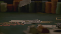 Extreme slow motion card game Stock Footage