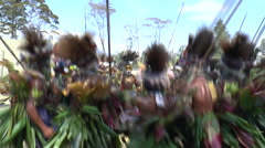 Papuan group sing and dance  Stock Footage