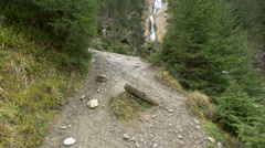 Path near the Horses Waterfall Stock Footage