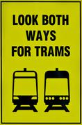 Tramway tram system sign Stock Photos