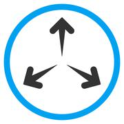 Expand Arrows Rounded Icon - stock illustration