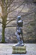 Statue of Robin Hood - stock photo
