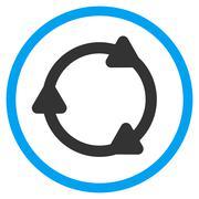 Rotate Back Rounded Icon - stock illustration