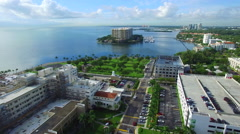 Mercy Hospital Miami aerial video Stock Footage