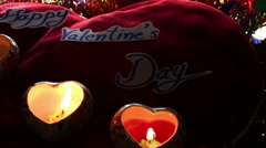 Valentine's day with candlelight Stock Footage