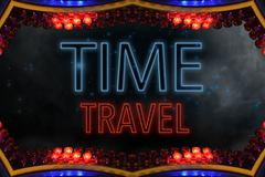 time travel - stock illustration