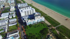 Miami Beach aerial drone Stock Footage