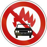 Stock Illustration of Road Sign - No Flammable Goods in South Korea