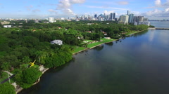 Waterfront homes at Brickell Stock Footage