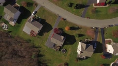 Aerial Shot Looking Down on Small Community Footprint Stock Footage