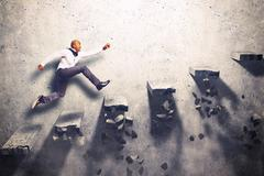 Uncertain climb Stock Photos
