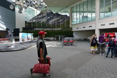 Christchurch International Airport - New Zealand Stock Photos