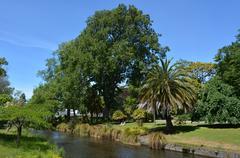 Landscape of the Avon River Christchurch - New Zealand Stock Photos