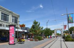 Bridge of Remembrance Christchurch - New Zealand - stock photo