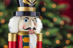 Beautiful and colorful holiday nutcracker ornament decoration Stock Photos
