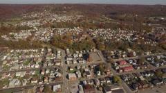 Aerial Shot of New Brighton, Pennsylvania Stock Footage